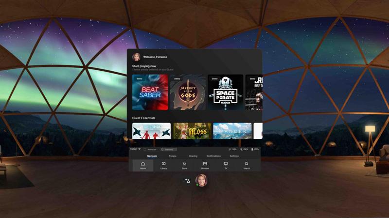 Oculus Quest Interfaz